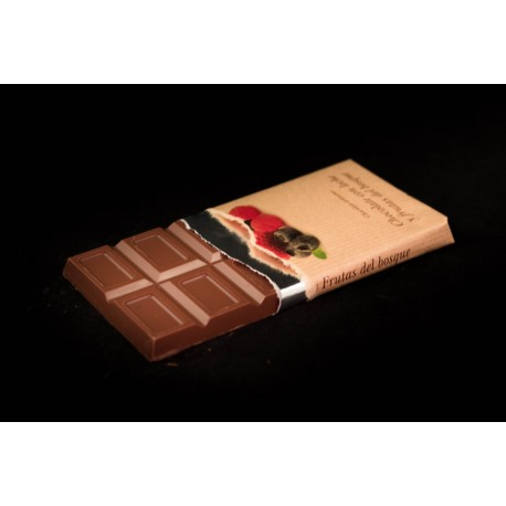 Chocolate leche frutas del bosque tableta 125g