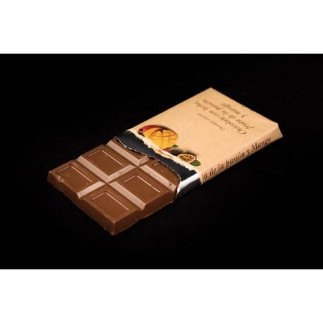 Chocolate leche pasión y mango tableta 125g