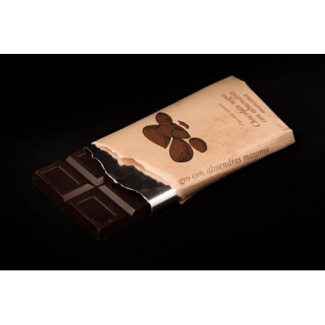 Chocolate puro con almendra marcona 125g