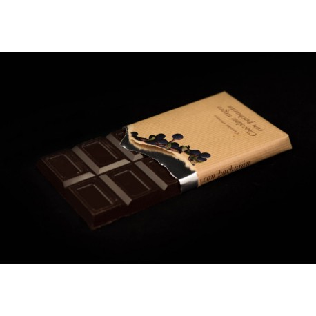 Chocolate negro con pacharan 125g