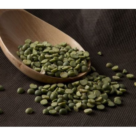 Guisante verde pelado partido a granel